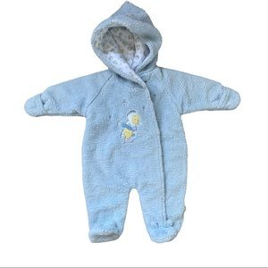 Rare Disney Pooh Winter baby suit 3-6month blue
